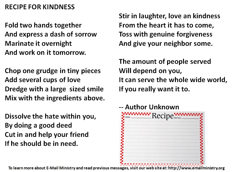 Recipe for Kindness