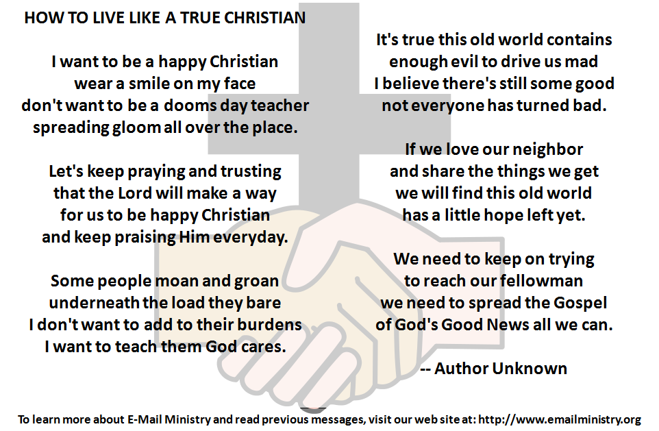 How To Live Like A True Christian