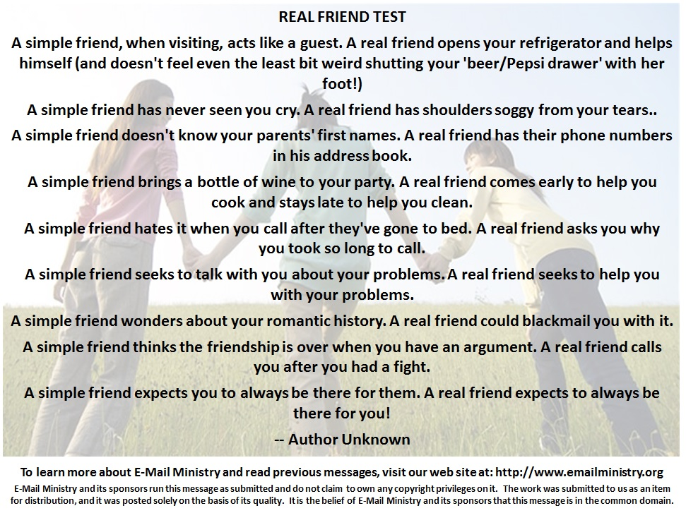 Real Friend Test