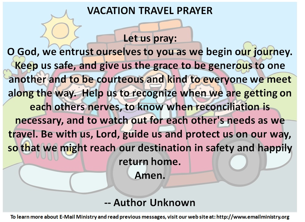 Vacation Travel Prayer