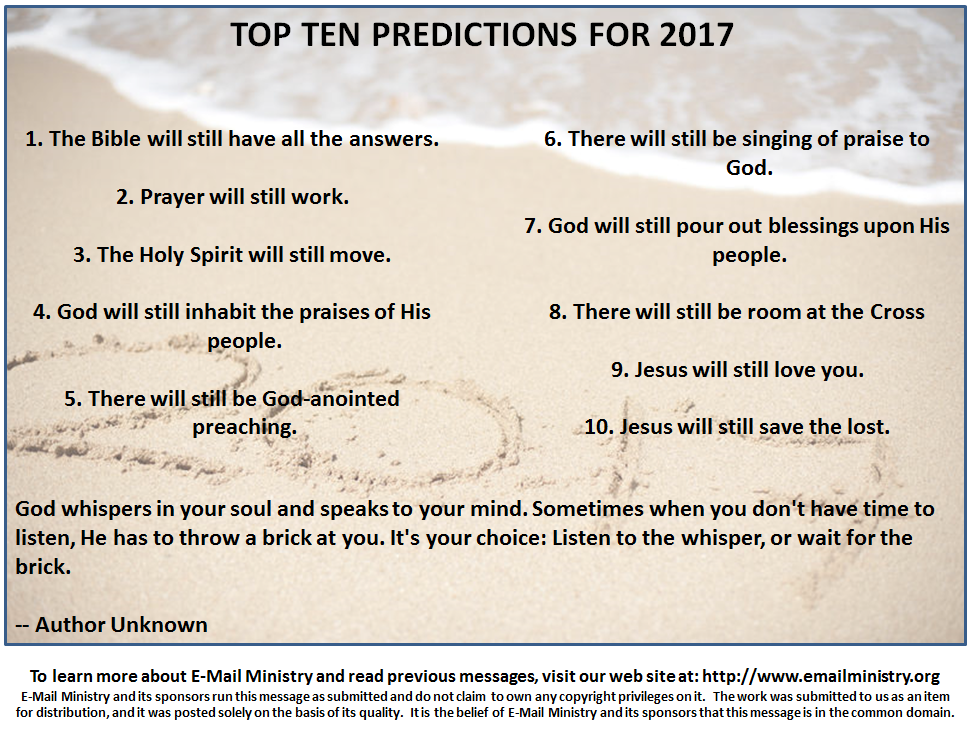 Top Ten Predictions for 2017