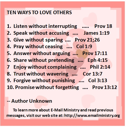 Ten Ways to Love Others