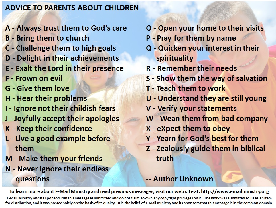 Advice to Parents about Children