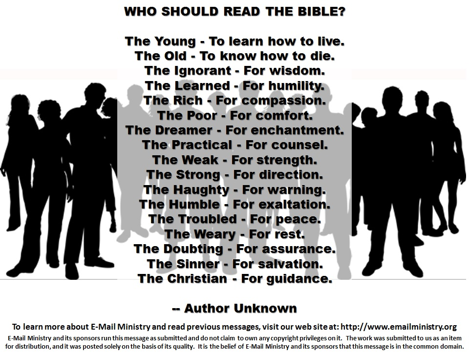 Who Should Read the Bible