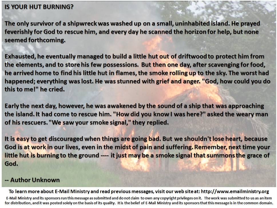 Is Your Hut Burning