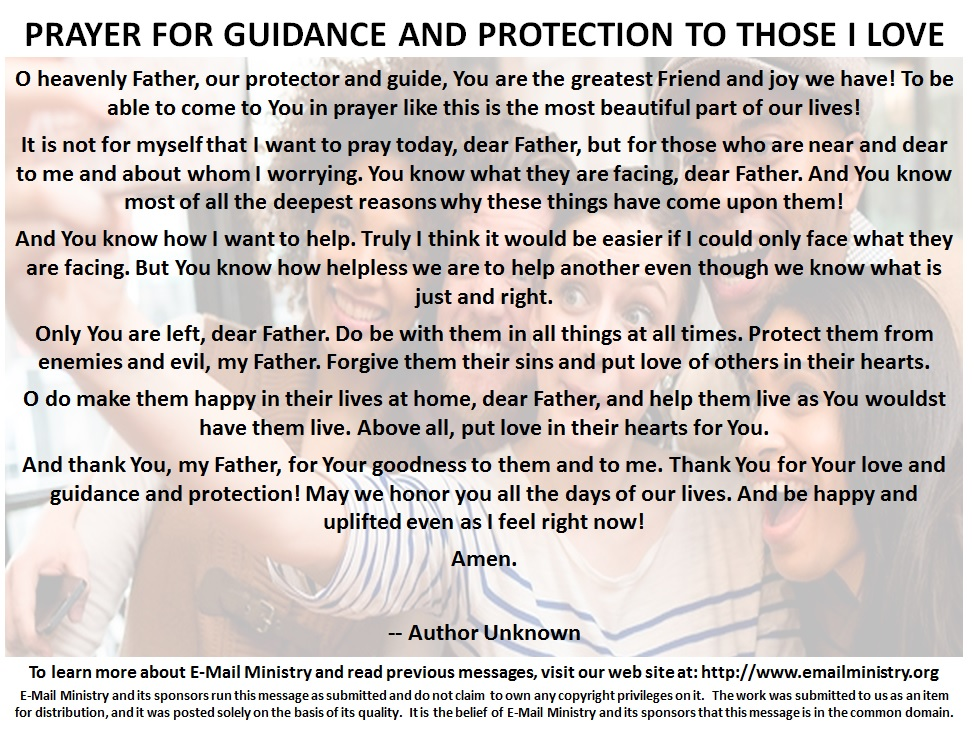 Prayer For Guidance and Protection to Those I Love2